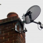 Chimney mounted Sky minidish