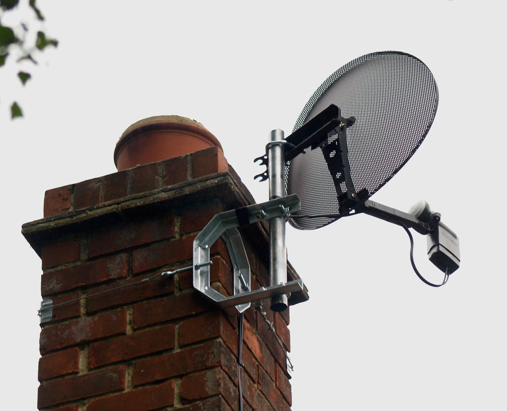 Chimney Mounted Sky Minidish 1towatch Aerial And